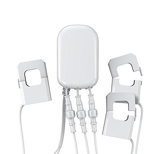 Aeotec AEOEZW095C3A60 Zangenamperemeter mit drei Zangen GEN5 (60A) Weiß