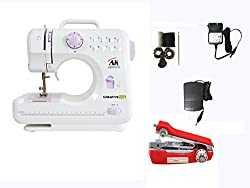 CreativeVia HA-SM01 -10 built-in Stitch Pattens Portable & Compact Multi-Functional Electric sewing Machine