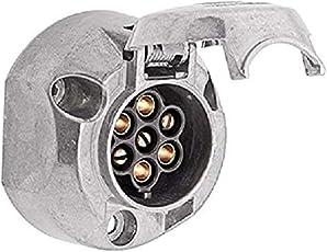 HELLA 8JB 001 941-001 Steckdose, 7 –polig, Metallgehäuse mit Zinnbronze, bei 12 V Belastung 16 A