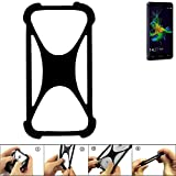 K-S-Trade Handyhülle für Allview P8 Energy Mini Schutz Hülle Silikon Bumper Cover Case Silikoncase TPU Softcase Schutzhülle Smartphone Stoßschutz, schwarz (1x)