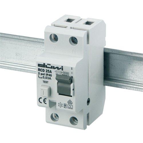 Preisvergleich Produktbild REV Ritter 0505487555 FI-Schalter, 25 A, 2-polig, 0.03 A