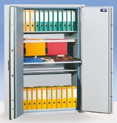 Wertschutzschrank im XXL-Format, Feuerschutz S 60 P - Sicherheitsstufe VDMA B + S2 + S 60 P HxBxT 1884 x 1282 x 559 mm - Datensicherungsschrank Datensicherungsschränke Dokumentenschrank Papiersicherungsschrank Papiersicherungsschränke Safe Schrank
