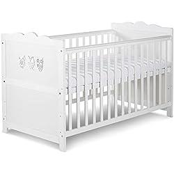 MARSELL Lit bébé évolutif enfant motifs hiboux 140X70