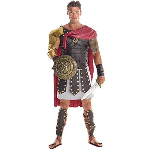 Kostüm Männer Soldat - Morph Herren Braun Römisch Gladiator Soldat Kostüm Kämpfer Kleidung Karneval - Groß (42-44 Zoll / 107-112 cm Brust)