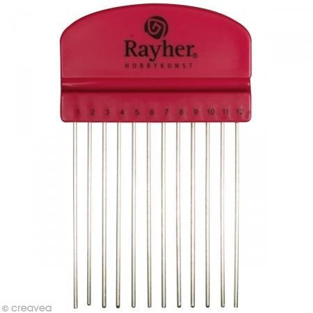 Rayher 71934000 Quilling Kamm, 10,5x6,5cm, mit 12 Zacken, SB-Btl 1Stüc -