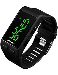 Reloj Digital Deportivo Impermeable con Fecha de Alarma para niños y niñas, para Hombres y