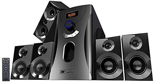 auvisio Heimkinoanlage: Home-Theater Surround-Sound-System 5.1, 160 Watt, MP3, Radio, schwarz (Soundsystem 5 1) (Surround-sound-system-verstärker)