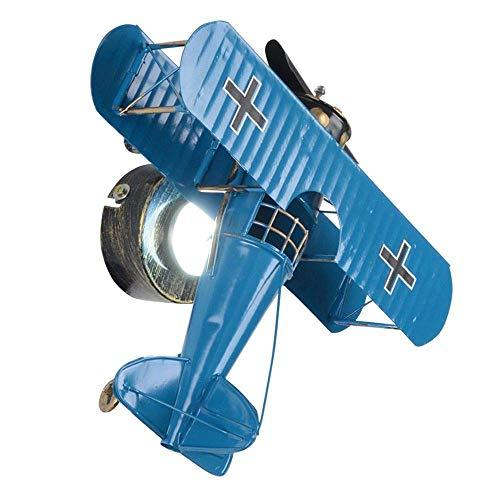 Blau-matt-wandleuchte (ZHANG NAN ● LED Retro Eisen Flugzeug Kind Wandleuchte Cartoon Baby Zimmer Wandleuchten Junge Mädchen Schlafzimmer Wandleuchten (Blau) ●)