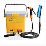 Ezzy ECW01 12V Electric High Pressure Car Washer, Adjustable Nozzle Water Spray Gun, 16L Air Compressor Tank, Portable & Lightweight, Suitable for Car or Bike Wash, Cleaning, Watering Lawn and Garden