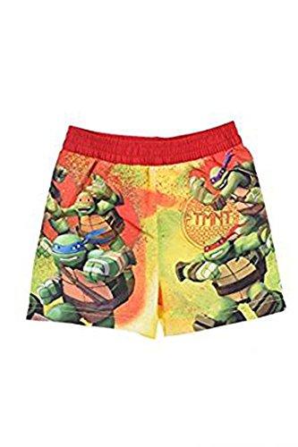 Teenage Mutant Ninja Turtle Jungen Badeshort (128, Rot) (Ninja Turtle Hose)