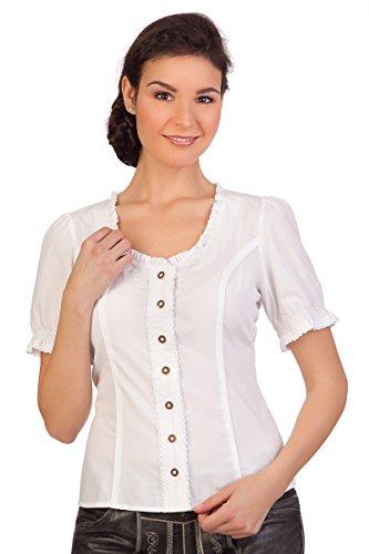 Spieth & Wensky Trachten Bluse - WINKA - rot, weiß, Größe 40