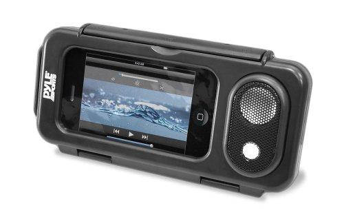 Pyle Surf Sound Play Universelle wasserdichte iPod/iPhone/MP3-Player/Lautsprecher und Hülle, Schwarz, PWPS63BK -