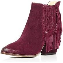 WSS Zapatos de tacón Punto Europa y viento con flecos de cuero pie botas sexy