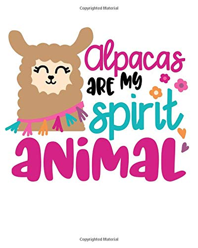 Alpacas Are My Spirit Animals: Cute Alpaca Composition Notebook/Journal for Adult/Children Animals Lovers to Writing (8x10 Inch. 20.32x25.4 cm) ... Blank Pages (WHITE&PINK&BLACK&BLUE Pattern) (Black Boy Baby Doll)