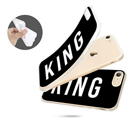 finoo   iPhone 8 Weiche flexible Silikon-Handy-Hülle   Transparente TPU Cover Schale mit Motiv   Tasche Case Etui mit Ultra Slim Rundum-schutz   Tattoo girl blond King