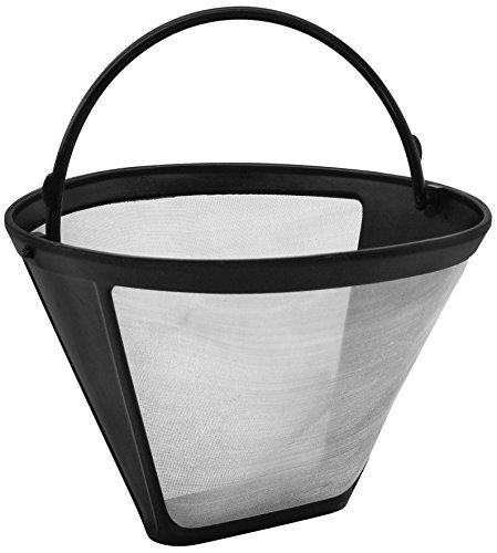 Fackelmann Silberton Dauerkaffeefilter Nr. 4, Permanent Filter aus Edelstahlgewebe - für Kaffee & als Teesieb verwendbar (Ø 12 cm, Höhe 8,5 cm), Menge: 1 Stück
