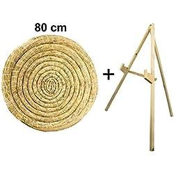 Sekula-Archery Disque de Paille Rond 80 cm avec Support