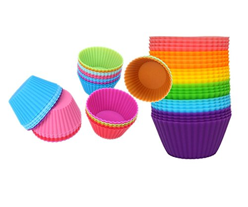 Inditradition 6 Pcs Silicone Muffin Moulds / Cup Cake Mould | Reusable & Nonstick, Multicolor