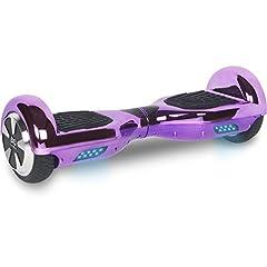 Idea Regalo - Cool&Fun Hoverboard Elettrico, Monopattino Elettrico Autobilanciato, Balance scooter con LED, Da Shop Gyrogeek (Violetto)