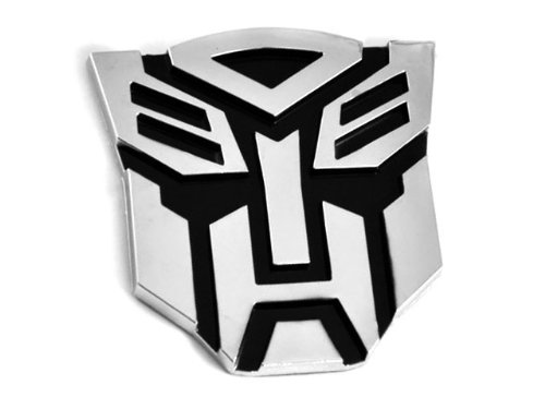Transformers Autobot 3D Chrom Auto Emblem Badge Aufkleber Decal - Large Size (Decepticon Logo)