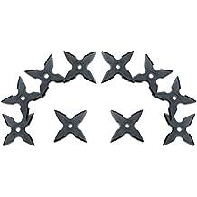 Throwing Stars - Juego de estrellas de ninja (goma, 10 piezas)