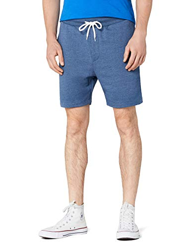 JACK & JONES Herren JORNEWHOUSTON Sweat NOOS Shorts, Blau (Dark Denim Fit:Tight Semi Low Fit-Melange), 48 (Herstellergröße: S) -