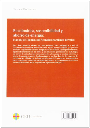 Bioclimática, sostenibilidad y ahorro de energía: (Textos Docentes)