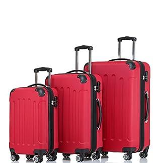 Shaik – Juego de maletas  rojo RED