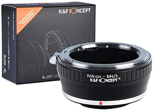 K&F Concept NIKON-F-AI-M4/3 Objektivadapter kompatibel mit Panasonic Olympus Micro Four Thirds m4/3 MFT Bajonett Adapterring Nikon F AI