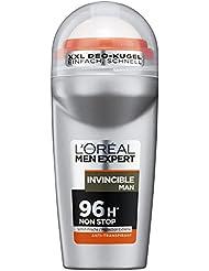 L'Oreal Men Expert Deo Roll-On Invincible Man, 96H Non Stop Schutz (6 x 50 ml)