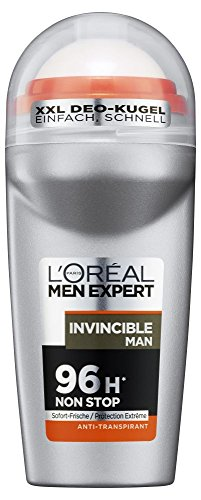 L\'Oreal Men Expert Deo Roll-On Invincible Man, 96H Non Stop Schutz (6 x 50 ml)