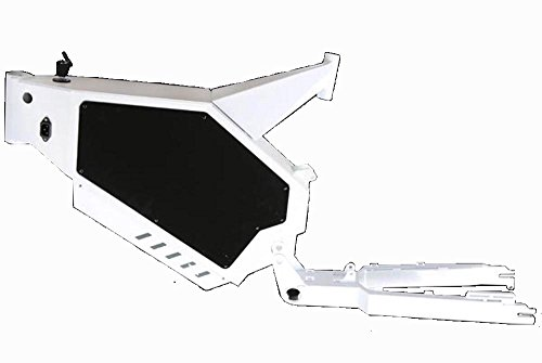Fahrradrahmen Bike Frame Steel for Stealth Bomber Electric Bike 155mm dropout Theebikemotor (White) (Assembly Cover Motor)