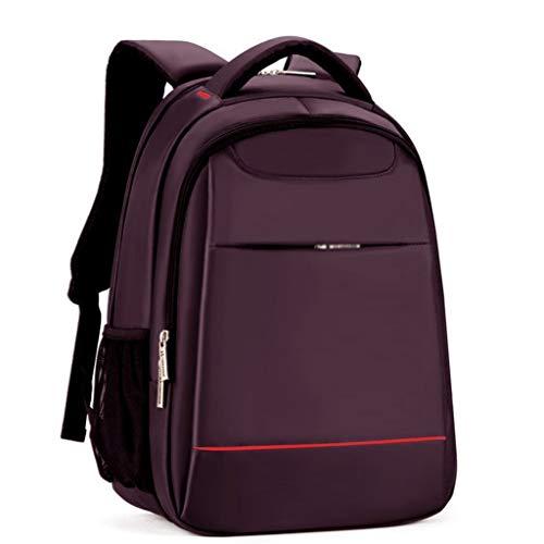 """XHHWZB Schulrucksack, College Middle High Student Anti-Theft Laptop Rucksack für Junge Mädchen Männer Frauen, Wasserdicht Computer Tasche, Leichte Tasche Fit 15,6\""""Notebook (Farbe : Purple)"""