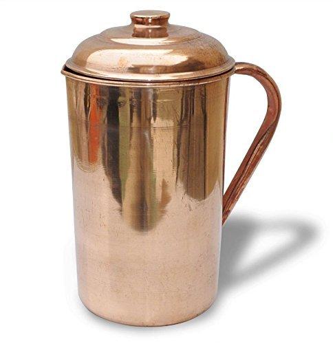 Stylla London Pur fabriqué à la Main Pichet/Carafe/Gobelet avec Couvercle Servir Ware Pliables, Cuivre, 10.1 x 6.6 x 5.8 cm