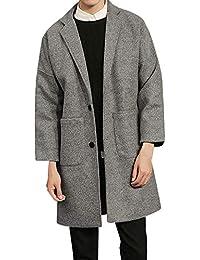 CLOOM Giacche Uomo Uomo Inverno Caldo Slim Fit Pocket Trench Giacca Manica  Lunga Top Inverno Giacca Uomo Casual Cappotto Outwear… d27b9314363