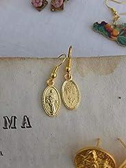orecchini religiosi medagliette madonnina simbolo maria oro sicilia eleganti barocchi