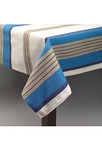 Nappe 150 x 260 cm Ecru Beige Bleu Simla