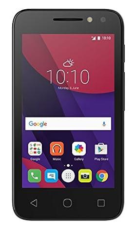 Alcatel Pixi 4-4 3G Smartphone (10,2 cm (4 Zoll), Android, 3 Megapixel Kamera, 4 GB Speicher, 32 GB SD-Karten-Slot, Dual-SIM)
