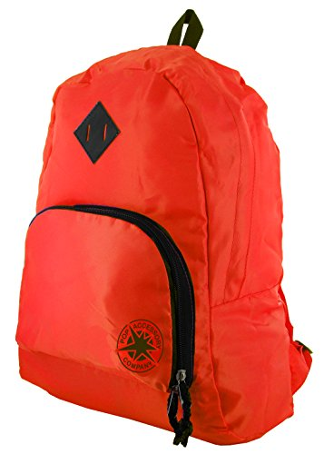 Foldaway Backpack Rucksack Bag Red Black - POP Accessory Company