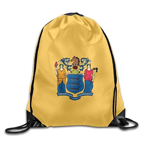 American Oregon State Flag Sackpack Drawstring Bags Polyester Backpack Outdoor Sports Gym Bag Yoga Runner Daypack Team Training Gymsack Big Capacity (Twin Sides) American New Jersey State Flag Nike Drawstring Jersey