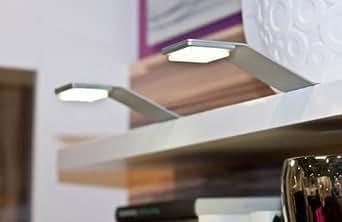 nino led schrank aufbauleuchten 2er set 79011621 2x2 watt neu beleuchtung. Black Bedroom Furniture Sets. Home Design Ideas
