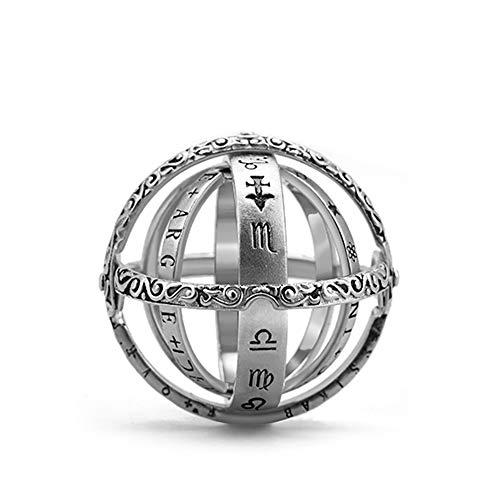 JUNCHUANG Retro Globus Universum Ball Ring, Vintage Paar Liebhaber Ring, astronomische Kugel Ball Ring kosmischen Finger Ring Paar Liebhaber Schmuck Geschenke