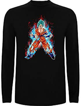 The Fan Tee Camiseta Manga Larga de Niños Dragon Ball Son Goku Anime Vegeta Piccolo Akira Toriyama