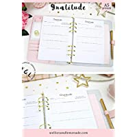 30 Planners - 15 Pages, A5 Gratitude Journal Planner Inserts, Gratitude Planner Refill, Writing Journal, Prayer Journal, Planner Inserts, Carpe Diem Inserts