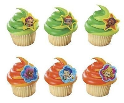 12 Bubble Guppies Cake Cupcake Pop Rings Birthday Party Decorations Supplies by Bubble Guppies