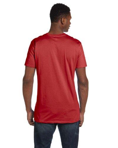 Hanes Mens Nano-T Cotton T-Shirt Vintage Red
