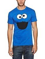 Sesame Street Men's Monster Face Short Sleeve T-Shirt