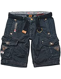 Geographical Norway Shorts, kurze Cargo Hose, Bermuda Perle Men Black 305 JMS