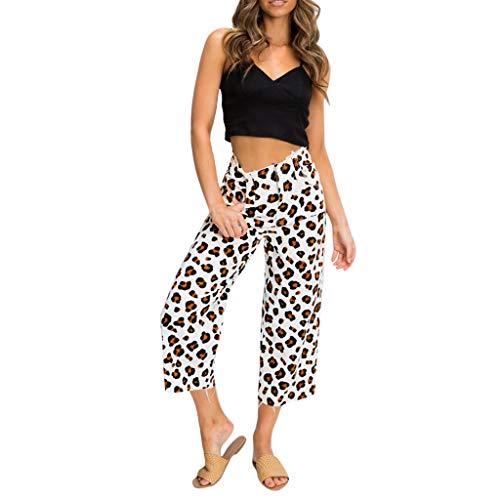 PorLous Förderung,Hosen, 2019 Damen Sport Mode Sexy Wide Leg Lose Hosen Leopard Gedruckt Knöchellangen Frühling Und Sommer Freizeit Hosen ()