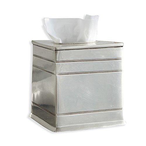 Loberon Taschentuchbox Polly, Messing, H/B/T ca. 14,7/14,5/14,5 cm, Silber -